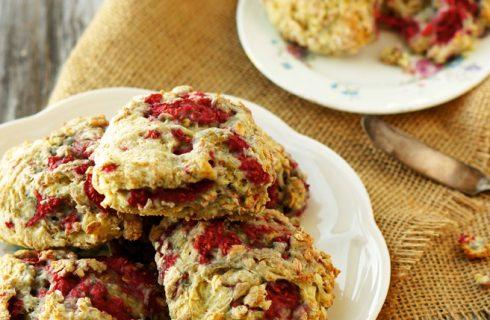 Heerlijke en gezonde(re) havermout scones met frambozen (lactosevrij)