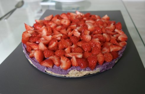 HOMEMADE- Healthy en raw blueberry cheesecake