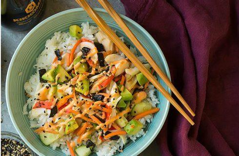 Prachtige California Roll Sushi Bowl