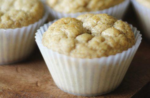 Luchtige proteïne muffins met banaan en kwark