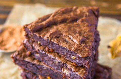 4 ingrediënten chocolade fudge proteïne brownies