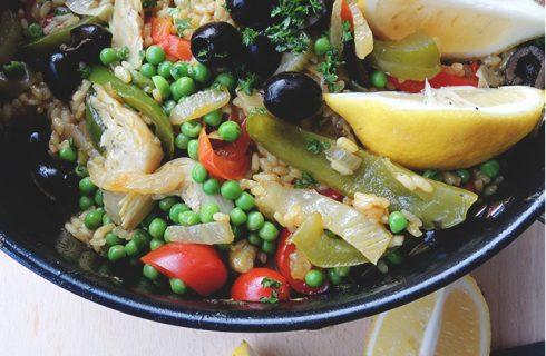 Lekkere én gezonde vegan groenten paella