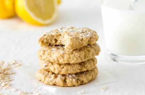 Gezonde havermout koekjes met kokos en citroen