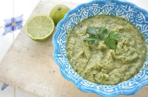 Courgette gazpacho met munt en limoen