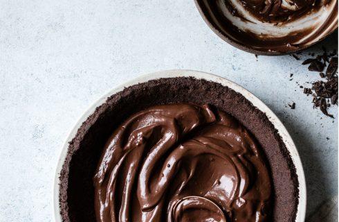 Gezonde chocolade taart (vrij van gluten en lactose)