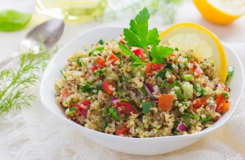 Frisse heerlijke en simpele citroen quinoa salade