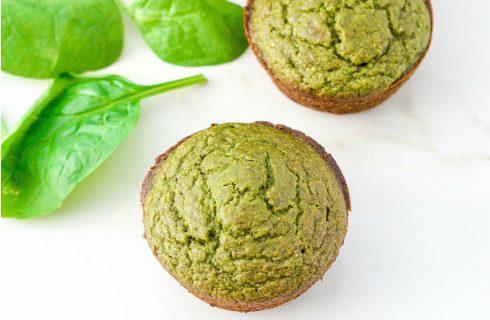 Healthy spinazie muffins met banaan en havermout