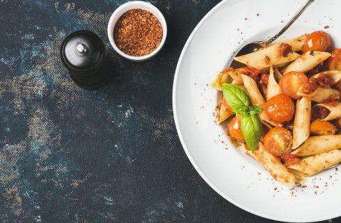 Heerlijke gezonde pasta met tomaten-champignonsaus