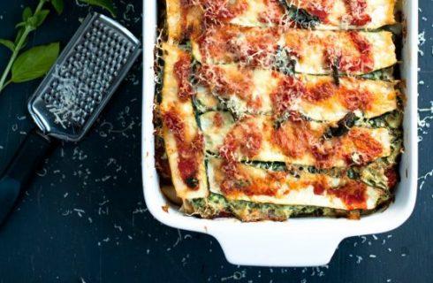 Vegetarische herfst pompoen lasagne