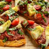 Pizza maar dan anders met een gezonde broccoli pizzabodem