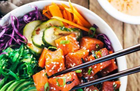 Een heerlijke én makkelijke quinoa sushi lunch bowl!