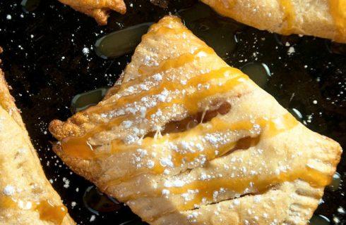 Gezonde vegan abrikozen -en appelflappen