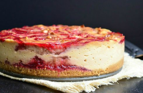 Treat meal: Peanut butter jelly cheesecake