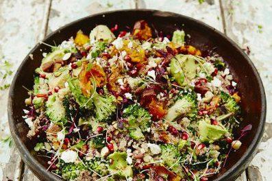 Super salade voor na het sporten!
