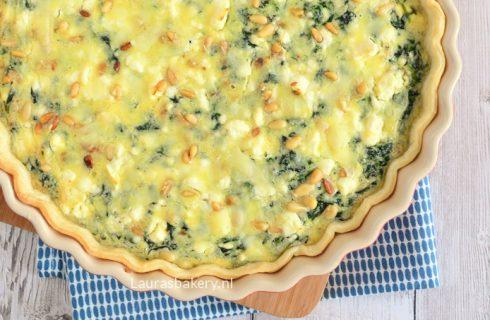 Heerlijke korstloze mini quiche met spinazie en feta