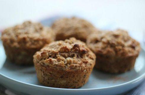 Heerlijke koffie ontbijtmuffins met walnoten!