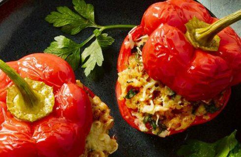 Gevulde paprika's met spicy gehakt!
