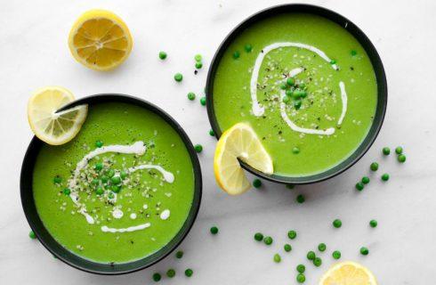 Heerlijke frisse spinazie soep met munt!
