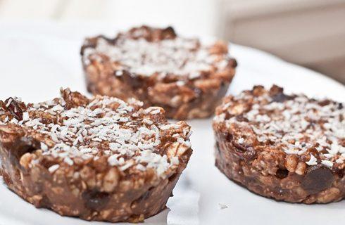 RAW choco-crunch cakes; lekker en makkelijk!