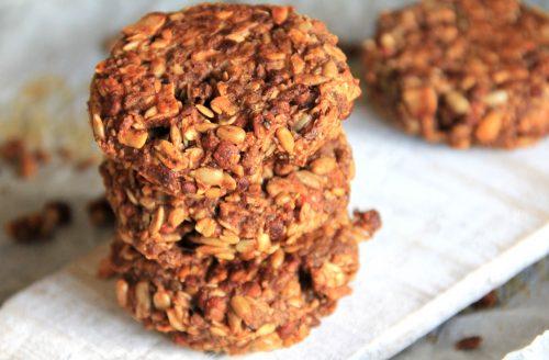 2 ingrediënten healthy en chewy 'granola koekjes'