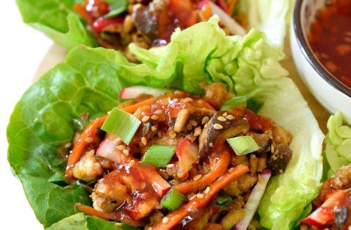Koolhydraatarm: Chili sin carne sla wraps!