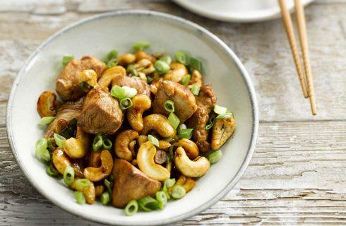 Heerlijke gezonde wok met kip en cashew noten