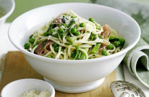 Vetarme spaghetti met champignons en prei!