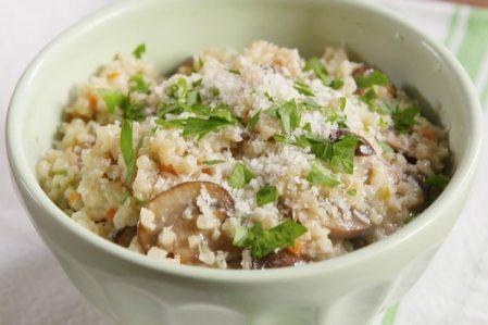 Heerlijke bloemkool risotto met champignons