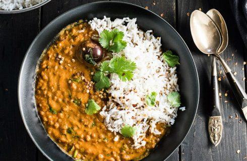 Heerlijke Indiase curry met rode linzen!