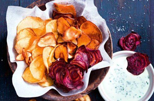 Healthy snack: groentechips uit de oven