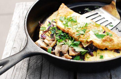 Omelet met spinazie en champignons (koolhydraatarm)