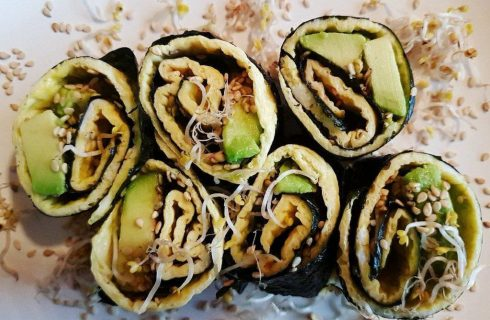 Originele omelet sushi wraps; lekker als lunch of hapje!