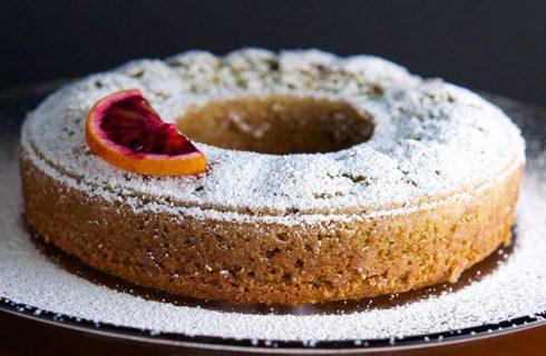 Healthy vegan speculaas cake met sinaasappel