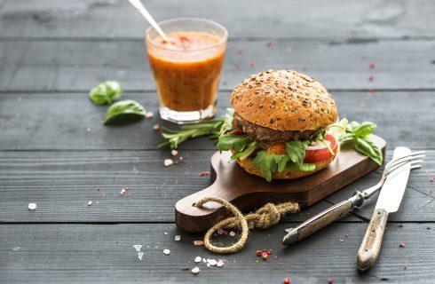 Een lekkere gezonde hamburger