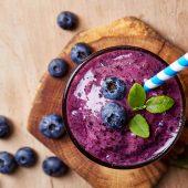 Banana Blueberry Smoothie een lekker fruitig tussendoortje