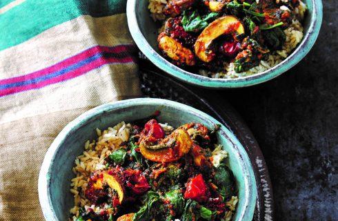 Indische spinazie met tomaten, smaakvol en snel te bereiden!
